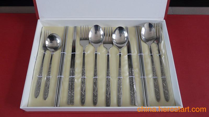 供应钛礼品餐具纯钛餐具12件套批发