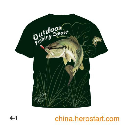 供应中山钓鱼T恤 钓鱼运动T恤 钓鱼比赛服饰