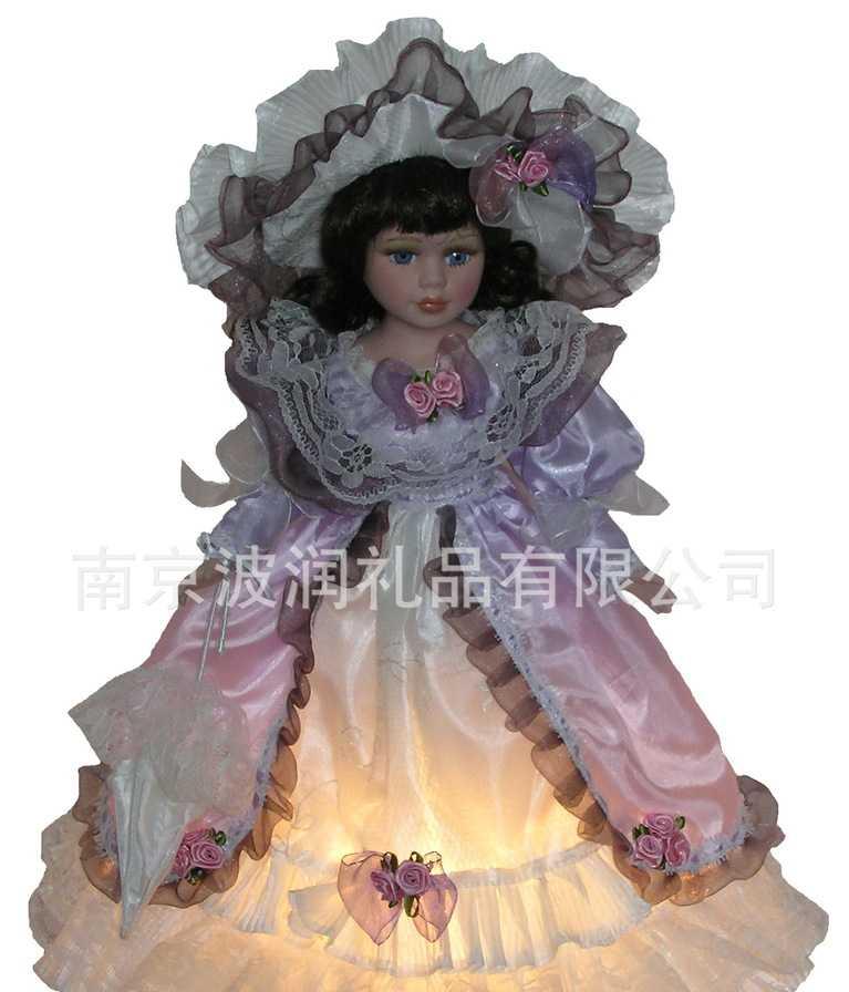 40cm欧式维多利亚风格娃娃台灯