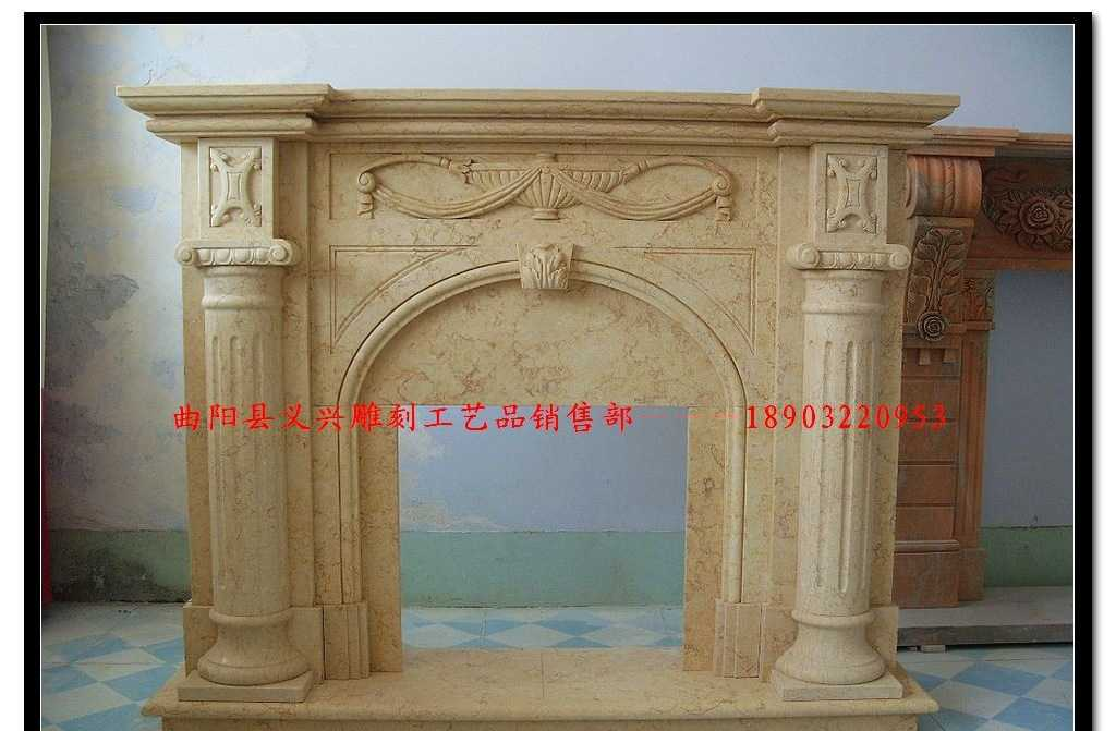 欧式石材装饰定制 大理石壁炉 天然石材雕刻定制 定做