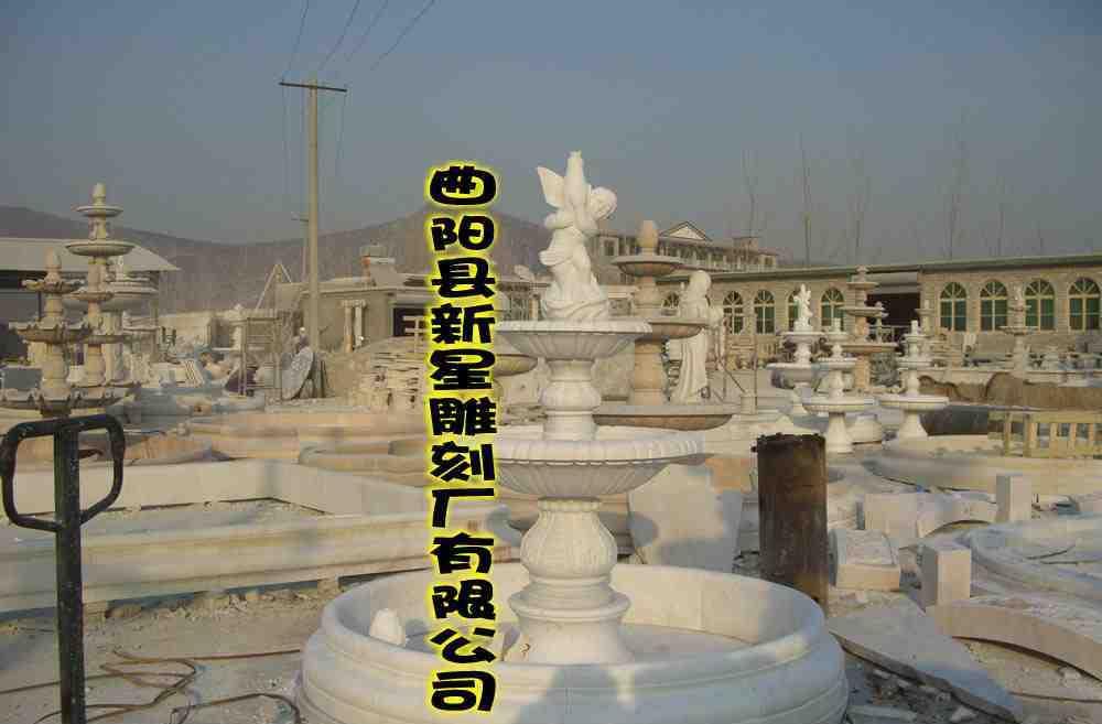 欧式喷泉-水池 大理石 汉白玉 石雕 喷泉-水池 人物