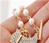CR-459  100元饰品混批 韩国饰品 满钻珍珠小狗手链 金银2色