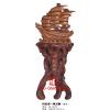 供应武汉厂家大量树脂工艺品落地帆船---大号一帆风顺船直销
