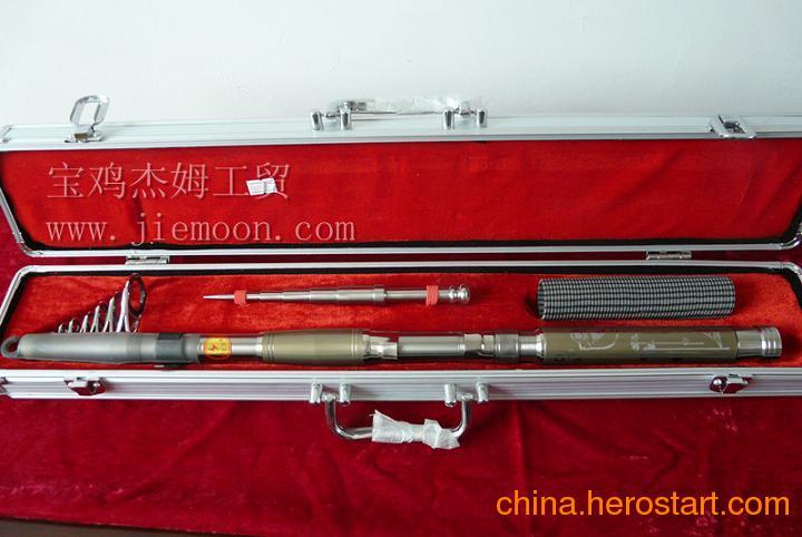 厂家供应钛礼品,钛工艺品,3.3米钛合金钓鱼竿钛渔具价格
