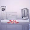 供应武汉厂家生产新款奖品水晶办公用品系列三件套