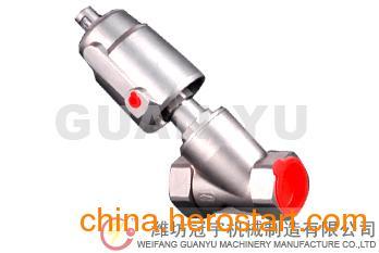 供应优质不锈钢螺纹式气动角座阀