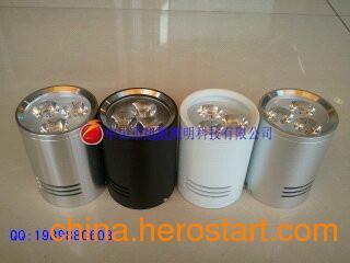 供应LED明装筒灯外壳配件