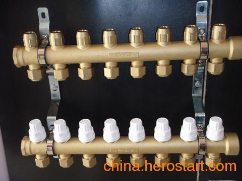 供应智能黄铜地热分水器-恒尔暖锻造一体地暖分水器,十大品牌分水器,名牌分水器