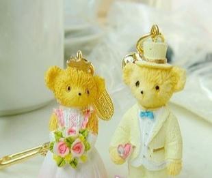FARM HOUSE结婚熊钥匙扣 情侣钥匙圈 包饰 挂件1423 1424