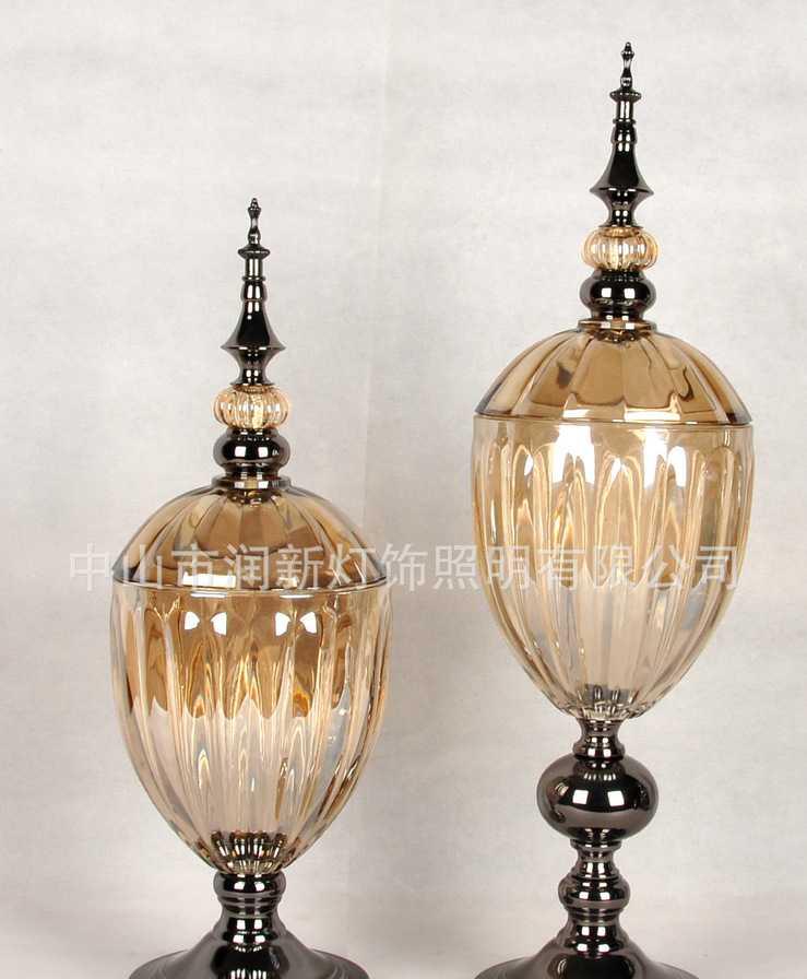 (润新)欧式后现代新古典摆件 玻璃工艺品 家居饰品