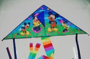 供应各种颜色三角形风筝,卡通风筝