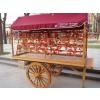 供应实木售货车,可移动式售货车,公园售卖车