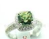 正品珠宝首饰 天然黄宝石戒指,白18K金 时尚韩版饰品