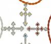 供应宠物饰品、宠物狗狗十字架项链