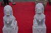 批发定做纯手工石料工艺品 汉白玉石狮子麒麟神兽貔貅