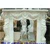 批量供应石雕工艺品摆件汉白玉室内装饰壁炉 欧式壁炉