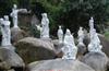 厂家热卖白色大理石八仙过海东方人物雕塑 佛像雕塑 园林雕塑