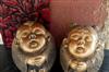 供天然石雕摆件双喜-欢天喜地中居家装饰品工艺品礼品