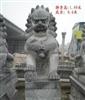 厂家直销 2.3米高 雕工精湛白麻石狮子石雕