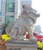 祥瑞石雕供应高档精品汉白玉雕刻动物石狮,麒麟