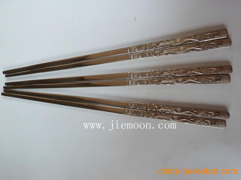 供应钛合金礼品钛礼品钛餐具韩版纯钛筷子(长寿鹤)价格