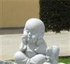 厂家长期供应大理石可爱小和尚石雕