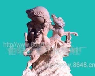 白马石雕,宝马雕塑,飞马石雕,秦风汉马雕塑