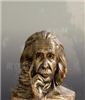 科学巨人爱因斯坦塑像玻璃钢 爱因斯坦名人肖像 爱因斯坦头像雕塑