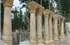 曲阳石雕,大理石雕刻,厂家直销:精美的埃及米黄双柱,可定做。