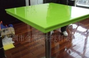 环保建材无辐射人造石绿色餐桌 深圳人造石 人造石厂家 人造石