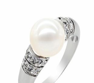 转运珠饰品 珍珠戒指SR1037PL  天然珍珠 珠宝首饰加工批发