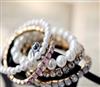 2012新款韩国代购饰品批发代理B01025加工珍珠串珠镶钻多层女手镯
