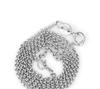 时尚银饰水晶吊坠 男女配链 925纯银电镀白金 1.0珍珠项链 批发