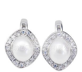天然大珍珠耳钉 耳饰 珍珠饰品 SE0070PL  韩版饰品 加工批发