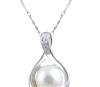 厂家直销 饰品批发 SNI0001PL 纯银  天然珍珠 吊坠项链