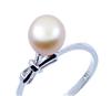 925银镀白金天然珍珠戒指 女戒 婚戒  高贵典雅 复古饰品