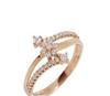 供应18K玫瑰金钻石戒指 品牌珠宝代理 加盟合作