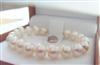 9-10圆形匀称强光白色天然珍珠串珠手链  简约SUKP4405