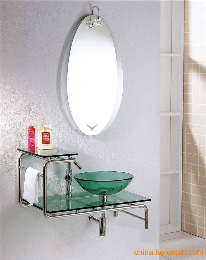 供应佛山卫浴镜柜昊沃全玻璃制造浴室柜