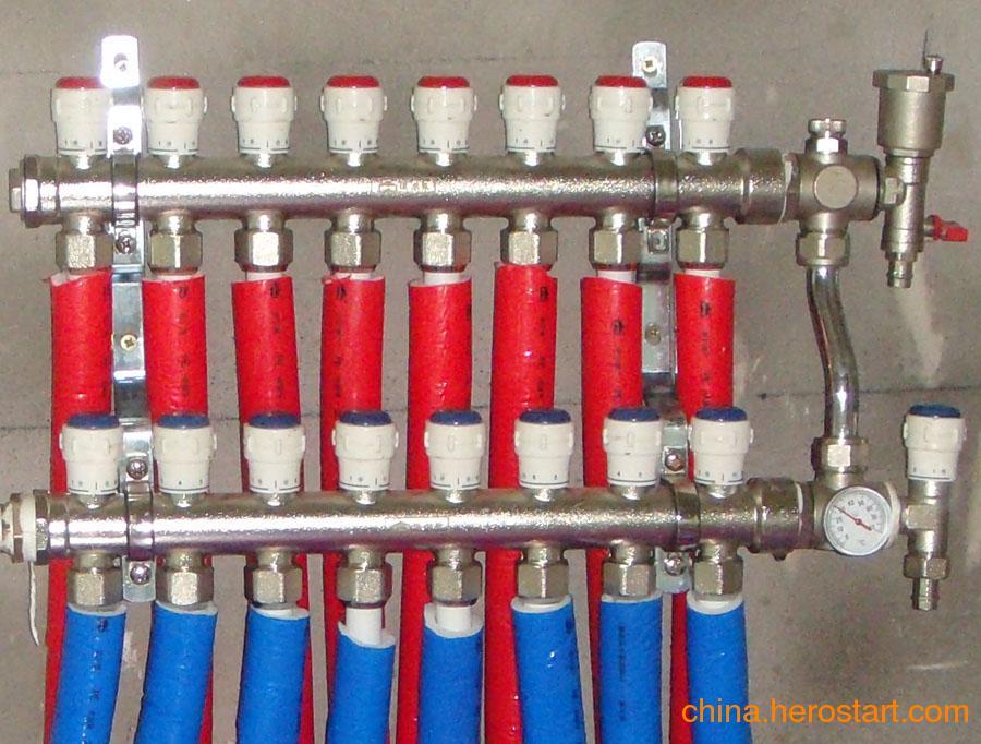 供应地暖分水器-十大品牌分水器-锻造一体式集分水器