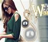 淘宝免费代理一件代发直销闪钻天鹅珍珠项链-女人的颜色 2881-53