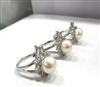【北欧风格】天然珍珠戒指/花瓣形珍珠戒指/销售疯狂珍珠戒指