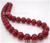 【然丽珍珠】10MM大红色贝宝珠项链 产地直销 低价优质