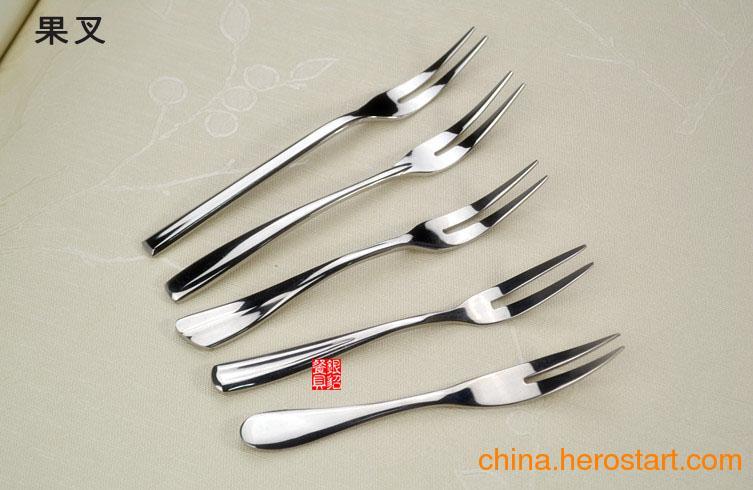 供应不锈钢笑脸水果叉 创意水果叉 水果叉不锈钢套 不锈钢餐具 水果签