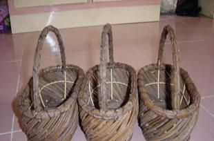 木片篮竹艺工艺品收纳篮置物篮草编篮胶藤篮铁艺篮布艺篮植物编织