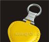 【专业批发】供应心形真皮/PU/皮革/PVC/塑料等皮质钥匙扣 黄Y320