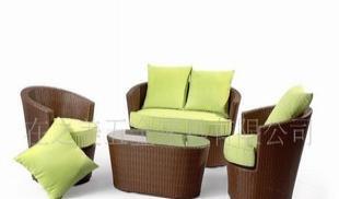 户外沙发 户外椅 仿藤沙发 塑料藤沙发 PVC藤  顺德户外休闲家具