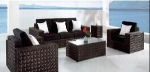 【工厂直销】欧式户外家具,宽藤沙发LT-824 欧式沙发