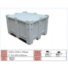 供应乌鲁木齐塑料卡板箱新疆中空板箱张掖PP箱大型托盘式周转箱