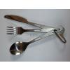 供应户外纯钛餐具三件套(钛勺/钛叉/钛刀)